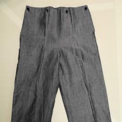 Pantalon lin marine nationale année 50