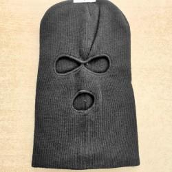 Cagoule coton 3 trous noir