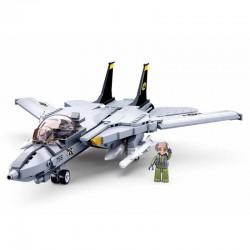 Avion de chasse brique type lego