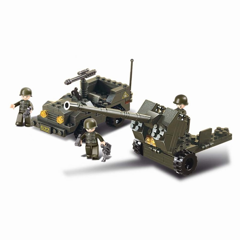 Jeep militaire type lego