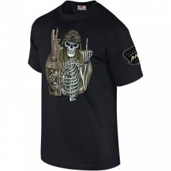 Tee shirt squelette fuck