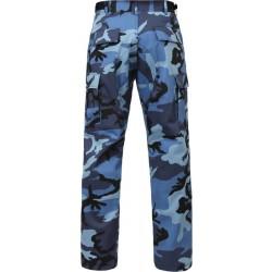 pantalon camouflage bleu