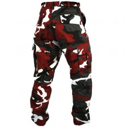 pantalon camouflage rouge