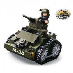 Véhicule militaire type lego