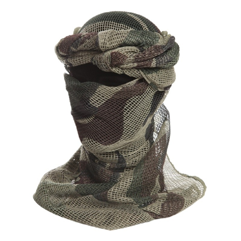 Chèche filet camouflage