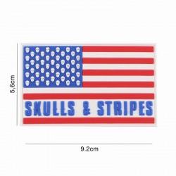 Patch 3d skull & stripes